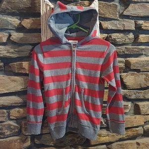 Size 6 Milkshake red and grey hooded jacket